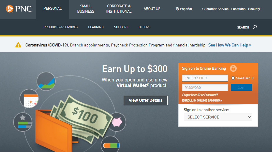 Sign up for PNC Online Banking