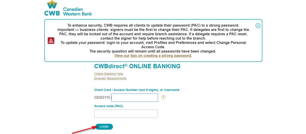 canadian western bank login