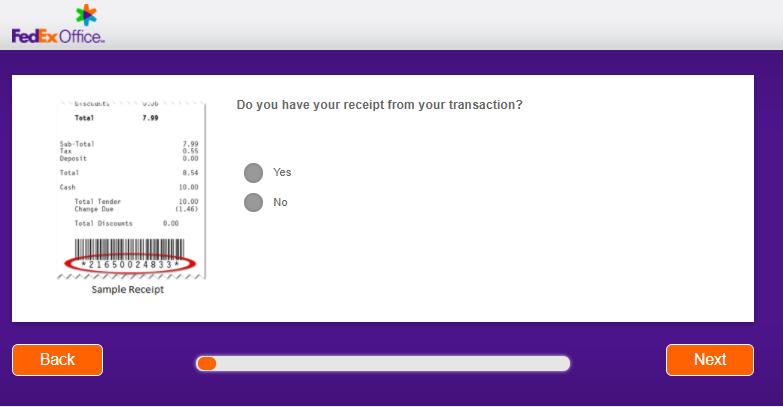 FedEx Survey Receipt Number