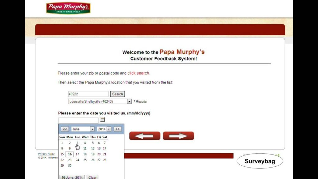 Papa Murphy's Guest Experience Survey