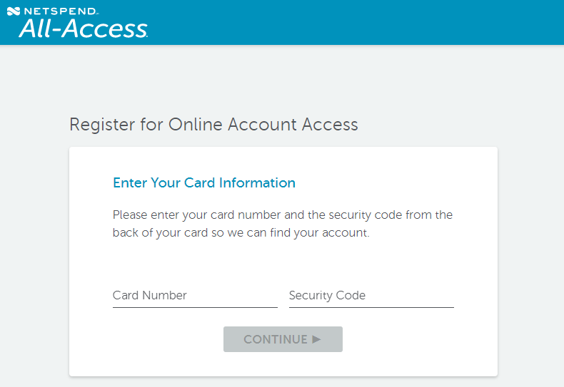 Activate Netspend All Access Card