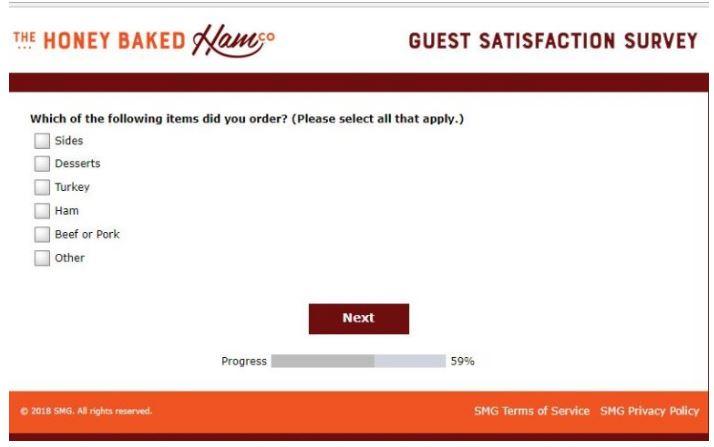 www.MyHoneyBakedHamfeedback.com Survey
